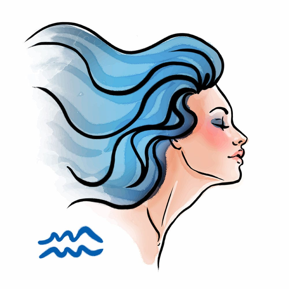 Aquarius As A Beautiful Woman - Pisces Man and Aquarius Woman Love Compatibility